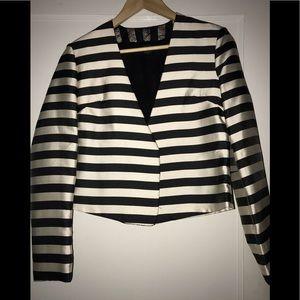 Dolce Vita Black & Cream Stripe Blazer. NWOT!